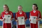 Reprezentantki UKS Klementovia: 2 miejsce Julia Ścibior, 3 miejsce Ewa Samorek, 8 miejsce Dominka Lis.